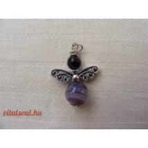 Ametiszt Angyal Medál - Pillangó